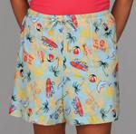 """Pajamas """"Meet Me at the Beach"""" Drawstring Shorts - SVR359WS"""