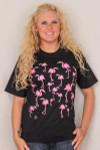 Pink Flamingo Tee Shirt - Adult Size - WCTEESA