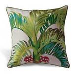 Manila Palm Cotton Linen Embroidered Pillow 9949057101