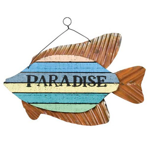 """Colorful Fish Sign - """"Paradise"""" - 70147P"""