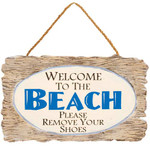"""Wooden Wall Art - """"Welcome to the Beach"""" 32374C"""