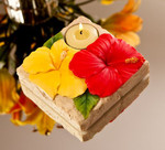 Hibiscus Flower Nature Light Tea Light Holder - 12705