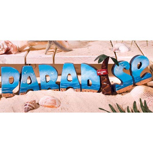 Tropical Paradise Block Letters Sign 32197