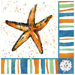 Starfish Beach Paper Cocktail Napkins Pk of 20 Beverage - 4NC4419
