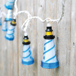 Tropical 10 Lighthouse String Lights 8' Long Strand 20268