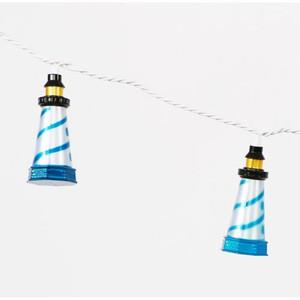 Tropical 10 Lighthouse String Lights 8' Long Strand 20268