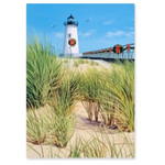 Lighthouse & Dunes Christmas Cards Box of 16