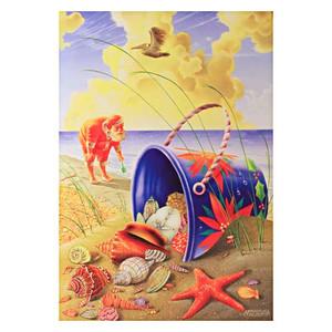 Santa Shell Beach Pail Holiday Christmas Cards Box of 10
