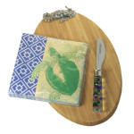 Seahorse Metal Sea Life Bamboo Cutting Board Set 108372SH