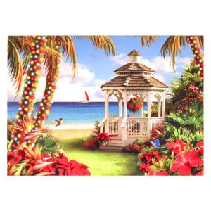 Gazebo Beach Christmas Cards Box of 16 27-079