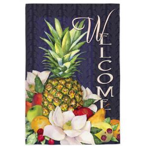 "Pineapple Bounty ""Welcome"" - Garden Flag - 12"" x 18"""