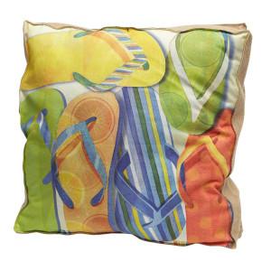 """Large Colorful Flip Flop 20"""" Pillow 4P101810"""