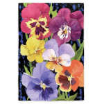 Pansies HOUSE Flag - 13S2748