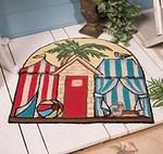 """Tropical Cabana Beach Theme Floor Mat 27x28"""" Rug"""