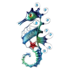 Seahorse Decorative Metal Wall Decor 15153
