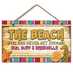 Lucky Enough at The Beach - Wood Sign 41-822