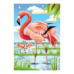 Flock of Flamingo Beauty House Size Flag - JFL166L