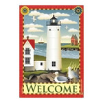 Welcome Lighthouse Standard House Flag - JFL066L