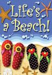 """Flip Flops Garden Flag """"Life's a Beach"""" - JFL083"""