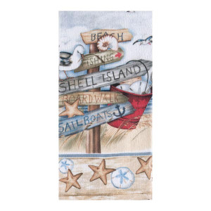 Beach Signs Terry Kitchen Towel R2930
