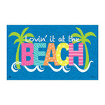 "Lovin the Beach Floor Mat - 18"" x 30"" - MatMates - 11139D"