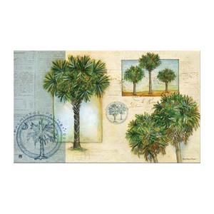 """Palm Trees Floor Mat - 18"""" x 30"""" - MatMates - 11184D"""