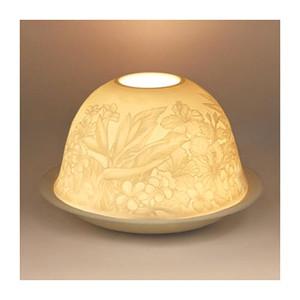 Tropical Garden Flowers Porcelain Tealight Holder 93403000