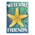 Starfish Beach Welcome Garden Flag - JFL152