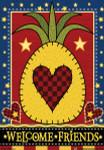 Welcome Tropical Pineapple House Flag - JFL089L