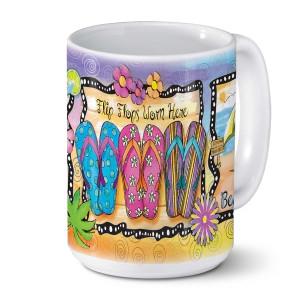Flip Flops 5:00 Somewhere Ceramic Coffee Mug 24-00819