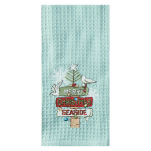 Beach Signs Embroidered Christmas Hand Towel - H0531