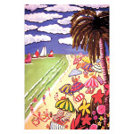 Sandy Beach Art GARDEN Flag - 1110030