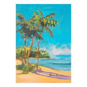 "Paradise Palm Tree Garden Flag - 12"" x 18"" - 119585"