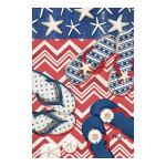Patriotic Flipflops Starfish Stripes Garden Flag - 119864