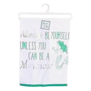 Always Be a Mermaid Print Dish Towel - 25092A