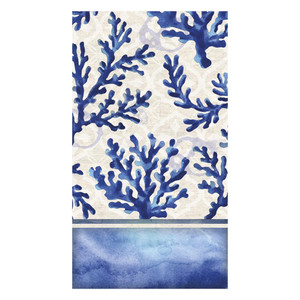 """Blue Coral Paper Guest Towels """"By the Sea"""" - 4NG5426"""