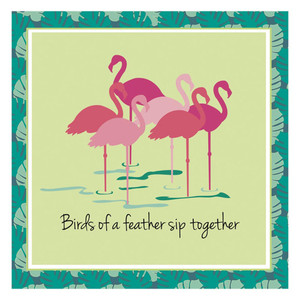Flamingo Friends Paper Cocktail Napkins Pk of 20 Beverage - 4NC5409