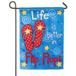 Life in Flip Flops GARDEN Flag - 14S3598