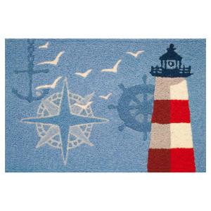 Lighthouse Nautical Compass Anchor Ship Wheel - Floor Rug - JB-ABR002