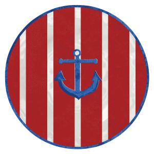 "High Tide Anchor 8"" Lunch Plate Melamine 21584"