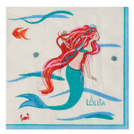 Mermaid Beverage Paper Cocktail Napkins Pk of 20 by Lolita - TW4-16257