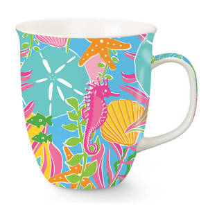 Colorful Seahorse Beach Coffee Mug 718-18