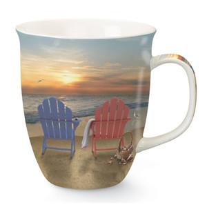 Sunset Relaxing Beach Chairs Coffee Mug 718-45