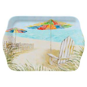 "Beach Chairs Umbrella 8"" Tray Melamine 22062"