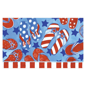 Patriotic Summer Fun Flip Flops Welcome Door MAT - DMBL-D00158