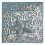 "Starfish Ocean Wonder 8"" Square Lunch Plate Melamine 21282"
