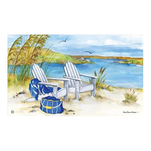 "Beach Chairs Waterside Welcome Floor Mat 18"" x 30"" MatMates 11349"