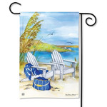 Waterside Ocean View Garden Flag 31349