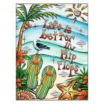 Life is better in Flip Flops Blank Card BKG14998