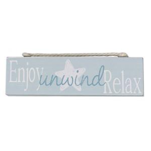 Enjoy Relax Wood Block Sign 15535EN